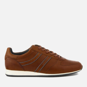 BOSS Orange Men's Orland Runn Leather Trainers - Medium Brown