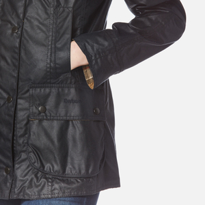 Barbour Women's Beadnell Wax Jacket - Navy: Image 5