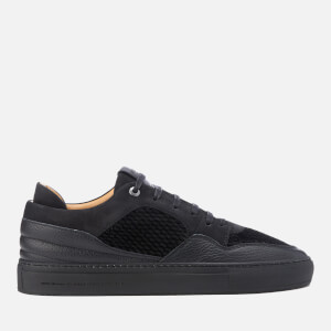 Android Homme Men's Omega Quilted Velvet Low Top Trainers - Black