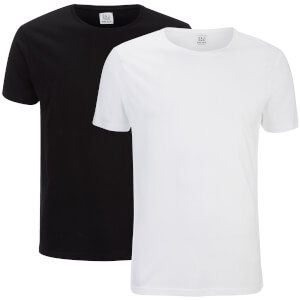 Smith & Jones Men's Purlin 2 Pack T-Shirt - Black/White