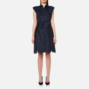 Foxiedox Women's Eletta Button Up Dress - Blue