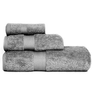 Restmor 100% Egyptian Cotton 3 Piece Luxury Towel Bale (600GSM) - Charcoal