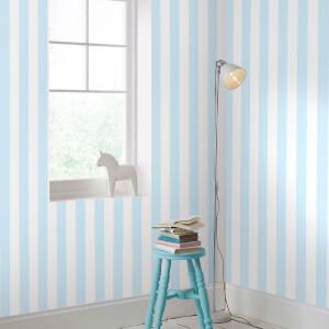 Superfresco Easy Kids' Pastel Blue Stripe Wallpaper