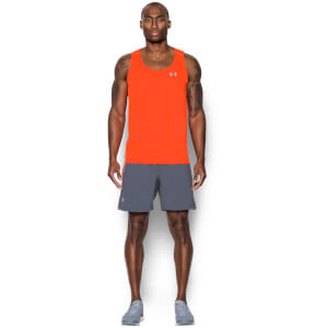 Under Armour Men's CoolSwitch Run Singlet - Phoenix Fire/Reflective