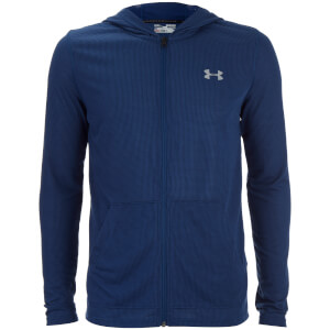 Under Armour Men's Threadborne Fitted Full Zip Hoody - Blackout Navy