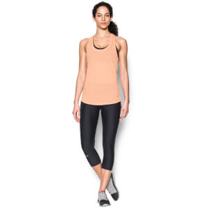 Under Armour Women's Threadborne Streaker Mesh Run Tank - White/Playful Peach