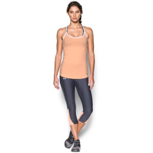 Under Armour Women's Fly By Racerback Run Tank - Playful Peach