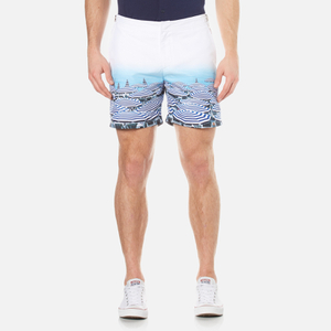 Orlebar Brown Men's Bulldog Photographic Swim Shorts - Parasol Paradise