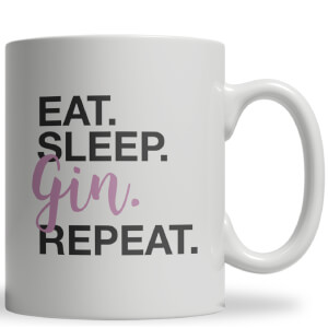 Eat Sleep Gin Repeat Ceramic Mug
