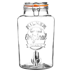Kilner Clip Top Round Drinks Dispenser 5L