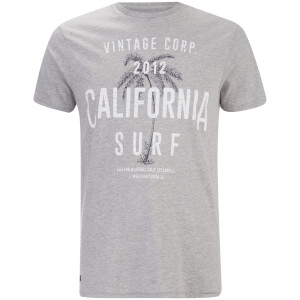 Threadbare Men's Paradise Crew Neck T-Shirt - Grey Marl