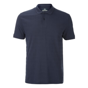 Threadbare Men's Stockton Textured Polo Shirt - Navy