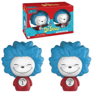 2 Figurines Dorbz Dr. Seuss Thing 1 et Thing 2