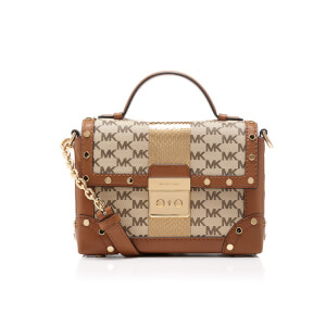 MICHAEL MICHAEL KORS Women's Centre Stripe Cori Small Trunk Bag - Natural
