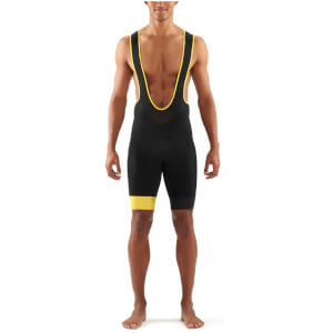 Skins DNAmic Bib Shorts - Black/Yellow