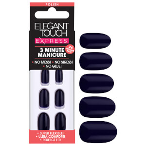 Elegant Touch Express Polish Nails - Deep Navy