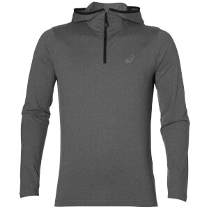 Asics Men's 1/4 Zip Long Sleeve Run Top - Dark Grey Heather