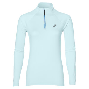 Asics Women's 1/4 Zip Long Sleeve Run Top - Aqua Splash Heather