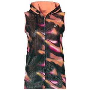 Asics Women's FuzeX Sleeveless Hoody - Sea Wave/Diva Pink