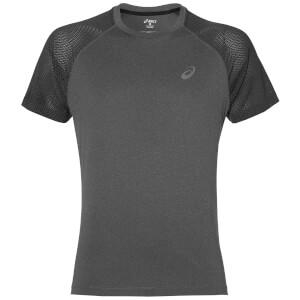 Asics Men's Lite Show Run T-Shirt - Dark Grey Heather