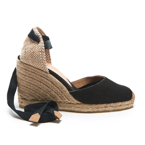 Castaner Women's Carina Wedged Espadille Sandals - Black