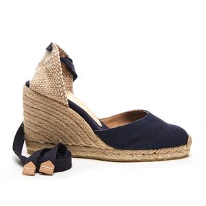 Castaner Women's Carina Wedged Espadille Sandals - Marino
