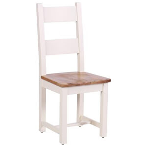 Vancouver Expressions Linen Horizontal Slats Dining Chair with Timber Seat