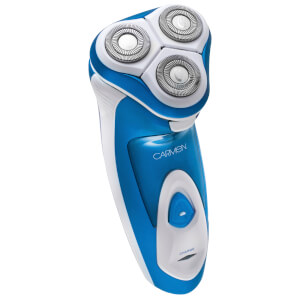 Carmen C82006 Triple Head Flex and Pivot Shaver - Blue