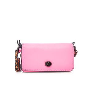 Coach Women's Glovetanned Leather Dinkier Cross Body Bag - Neon Pink