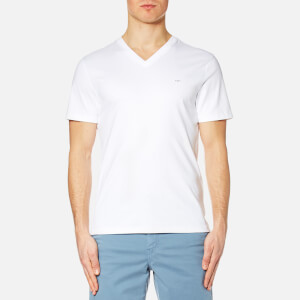 Michael Kors Men's Sleek Mk V Neck T-Shirt - White