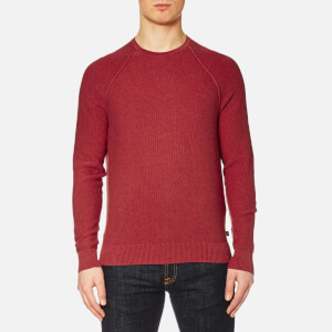 Michael Kors Men's Cotton Roll Crew Neck Jumper - Nantucket Red