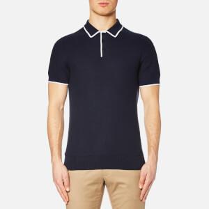 Michael Kors Men's Tuck Stitch Tip Polo Shirt - Midnight