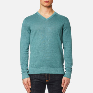 Michael Kors Men's Melange Wash V Neck Sweater - Lagoon