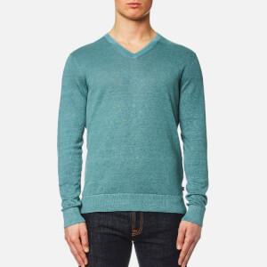 Michael Kors Men's Melange Wash V Neck Sweater - Lagoon