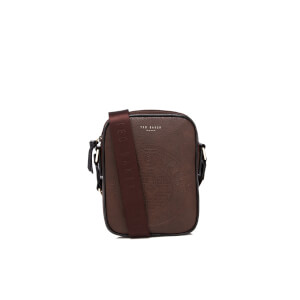 Ted Baker Men's Sooboss Embossed Mini Flight Bag - Chocolate