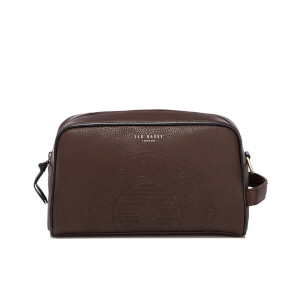 Ted Baker Men's Washbos Embossed Wash Bag - Chocolate