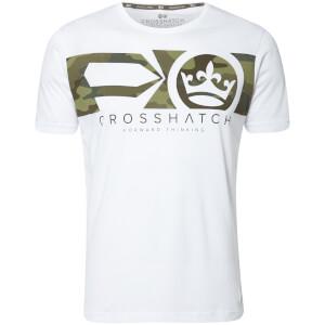 T-Shirt Homme Pleione Camouflage Crosshatch - Blanc