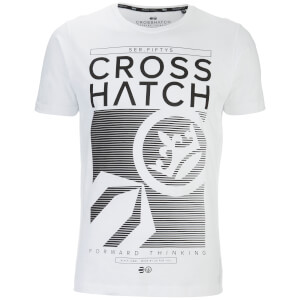 Crosshatch Men's Kilo Textured T-Shirt - White