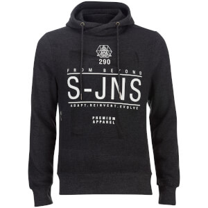 Smith & Jones Men's Electronite Cross Neck Hoody - Charcoal Marl