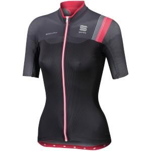 Sportful Women's BodyFit Pro Short Sleeve Jersey - Black/Grey/Pink