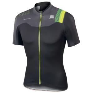 Sportful BodyFit Pro Team Short Sleeve Jersey - Black/Grey/Yellow