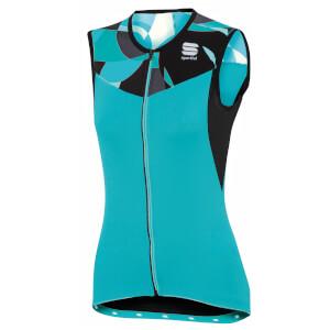 Sportful Women's Primavera Sleeveless Jersey - Turquoise/Black