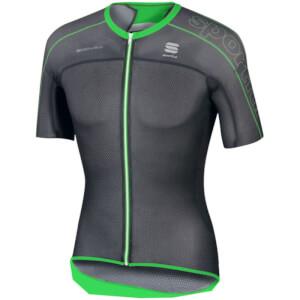 Sportful BodyFit Ultra Light Short Sleeve Jersey - Black/Green