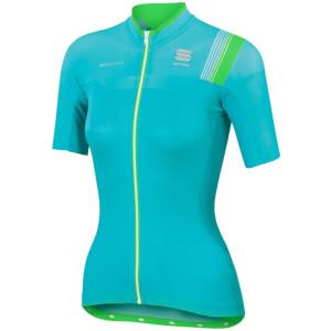 Sportful Women's BodyFit Pro Short Sleeve Jersey - Turquoise/Green