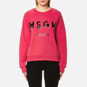 MSGM Women's Logo Sweatshirt - Bright Pink