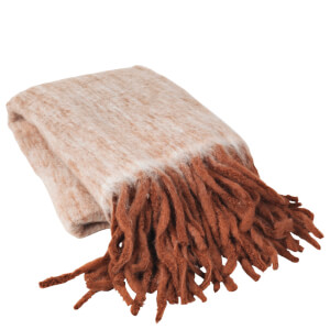 Broste Copenhagen Leon Woollen Throw - Red Clay