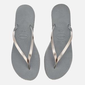 Havaianas Women's You Metallic Flip Flops - Steel Grey