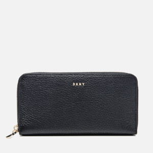 DKNY Women's Chelsea Vintage Large Zip Around Purse - Black
