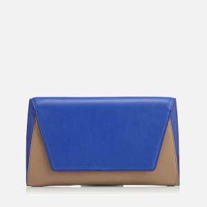 Diane von Furstenberg Women's Uptown Clutch Bag - Taupe Cobalt
