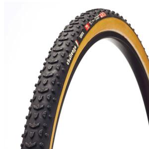 Challenge Grifo Seta Silk チューブラー シクロクロス タイヤ - ブラック/タン - 700c x 33mm